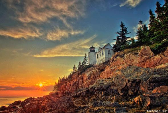 Bass Harbor Lighthouse, Acadia National Park, Photo by Kim Seng / Flickr.com