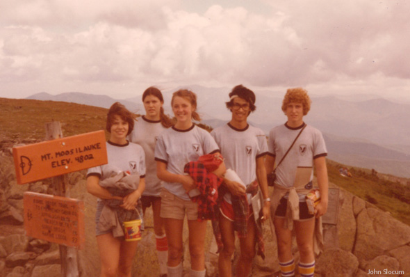 Cara Burns' crew 1980