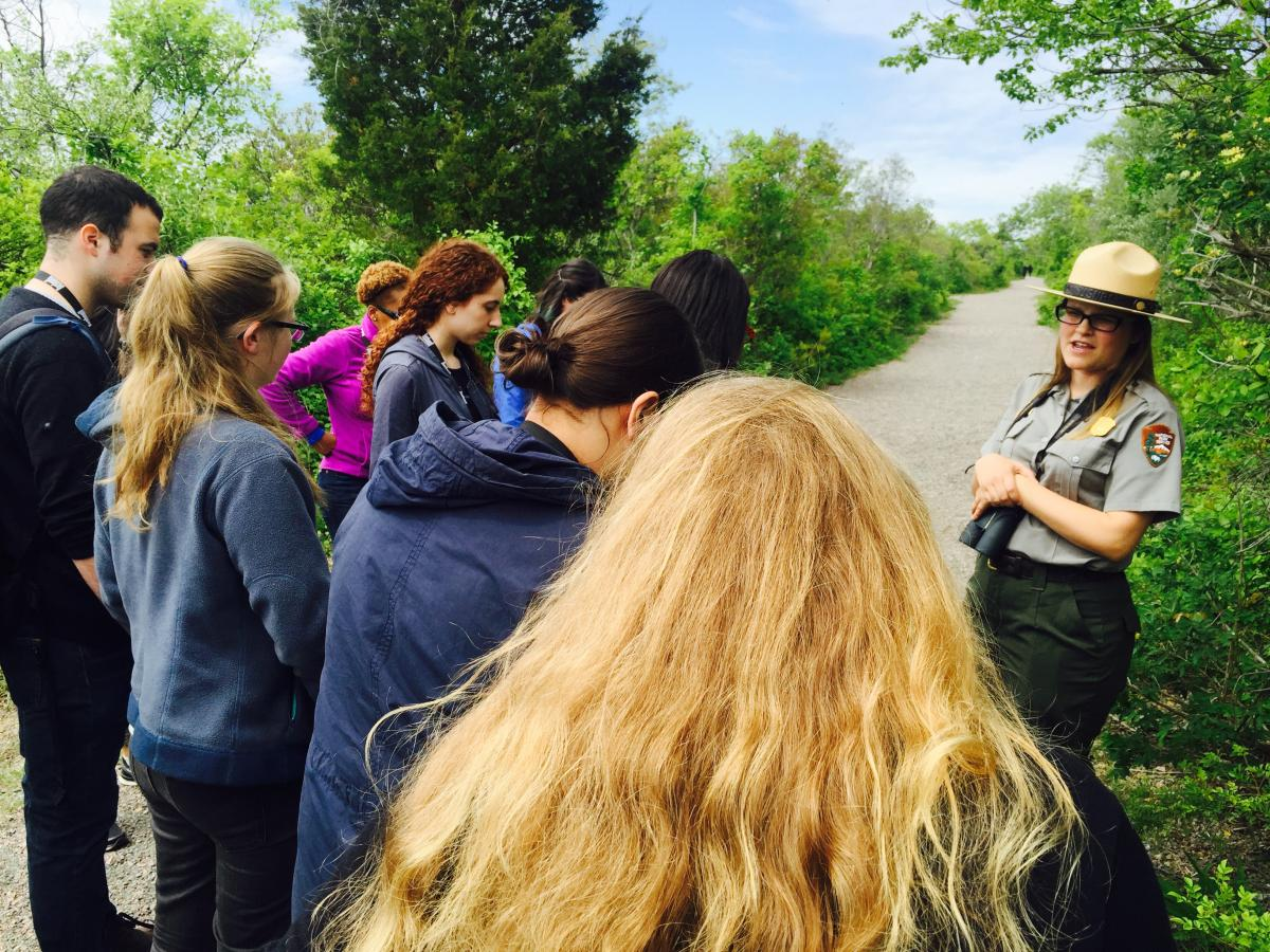 SCA NPS Academy take a ranger-led tour of Jamaica Bay Wildlife Refuge in NYC