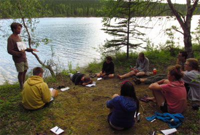 Between assignments on a Student Conservation Association Leadership Crew, students gain valuable knowlege.