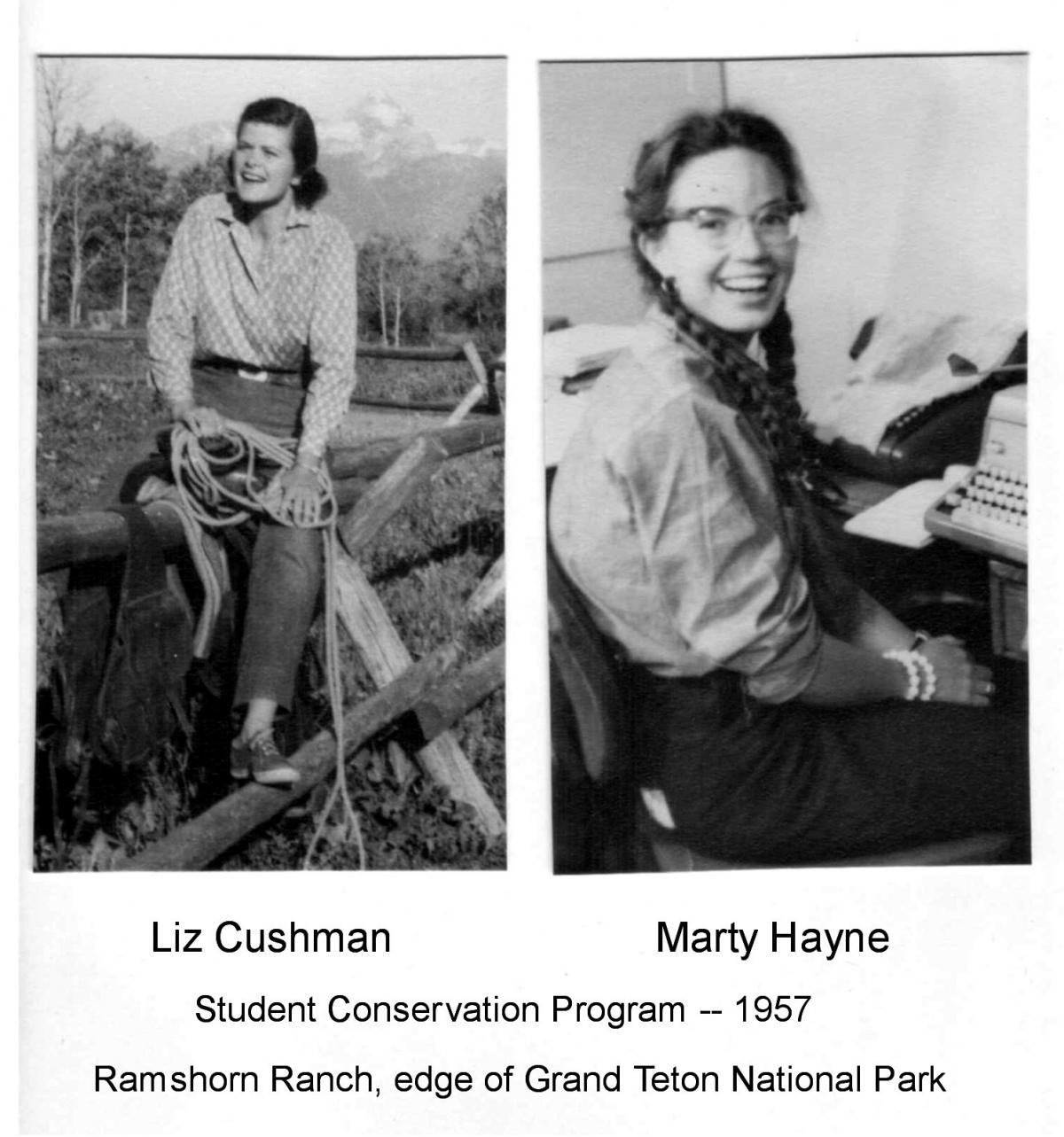 Liz Cushman and Marty Hayne Student Conservation Program, 1957