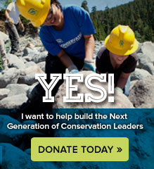 Donate today to the Student Conservation Association and help build the next generation of conservation leaders.