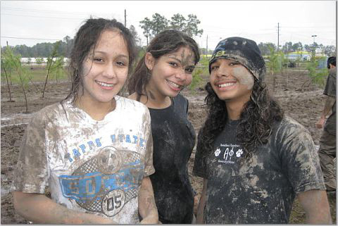 Diana and friends plant trees in Houston