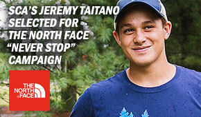 "SCA Member Jeremy Taitano has been honored with The North Face ""Never Stop"" Grant"