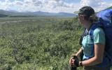 SCA Alum Riley Hays hiking in Denali National Park