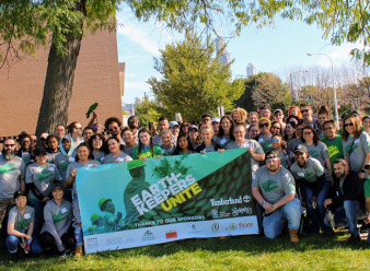 Volunteers in Chicago for the Earthkeepers Unite event.