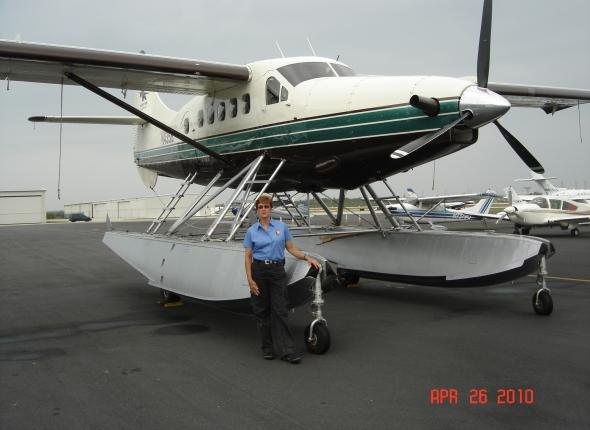 Meg after a meeting with a vendor awarded a permit to provide flight services between Key West and Dry Tortugas.