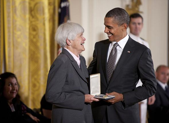 SCA Founder Liz Putnam and President Barack Obama
