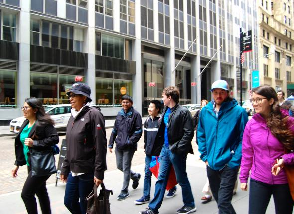 SCA Alumni tour the Financial District
