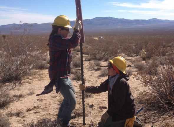Vangi and Leslie showing off teamwork skills