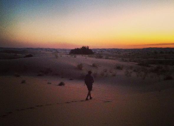 Night hike through the dunes... beautiful!
