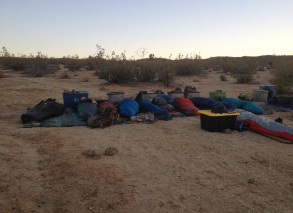 Cowboy camping... Just FANTASTIC AmeriCorps members.