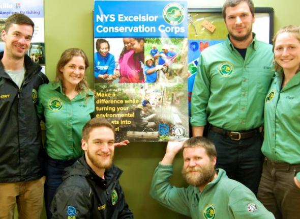 SCA Excelsior Corps project leaders gathered at their home base in SUNY Morrisville