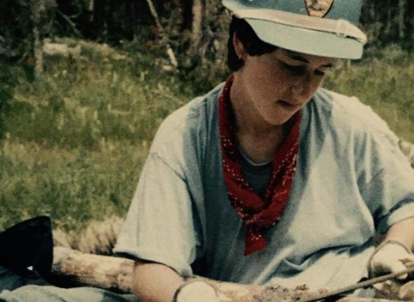 Michelle Bobowick, Interning with SCA in Yellowstone National Park, 1985