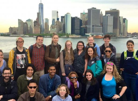 SCA NPS Academy members take in the New York skyline