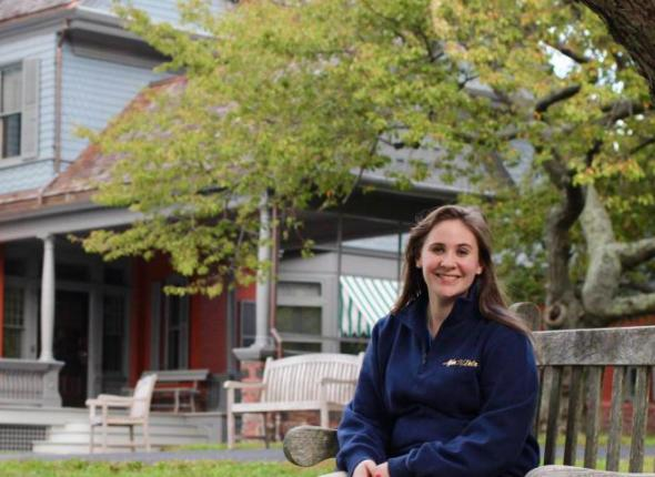Melanie Vanvoorhees is proudly serving as a Centennial Volunteer Ambassador at Sagamore Hill National Historic Site, former home of President Theodore Roosevelt