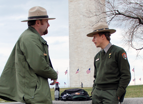 National Park Service Rangers at the National Mall in DC