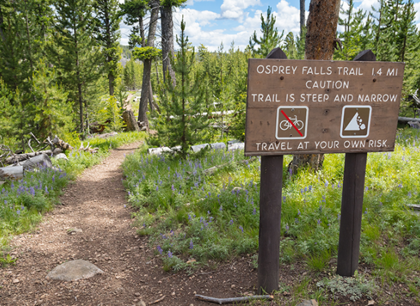 Osprey Falls Trailhead at Yellowstone National Park by Jacob W. Frank, NPS