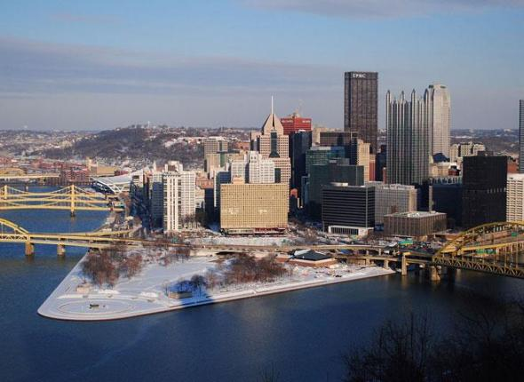 Pittsburgh PA, where SCA's Green Cities initiative has been helping businesses with sustainability, and saving money in the process.