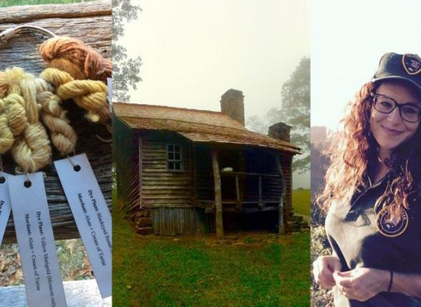 Jennifer Tarnacki practiced traditional Southern Appalachian textile customs during her SCA internship at Brinegar Cabin Homestead on the Blue Ridge Parkway.