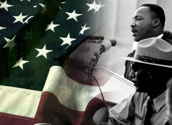Dr. Martin Luther King Jr. speaking at the March on Washington, DC in 1963.