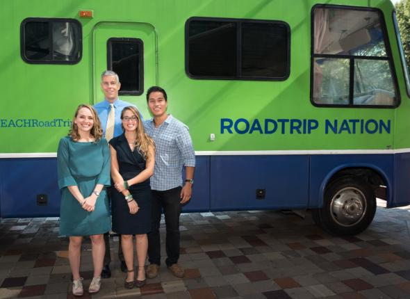 Roadtrip nation meets with Secretary of Education Arne Duncan
