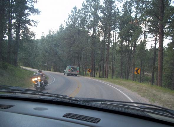 En route to the Dalton Fire, chasing Engine 663