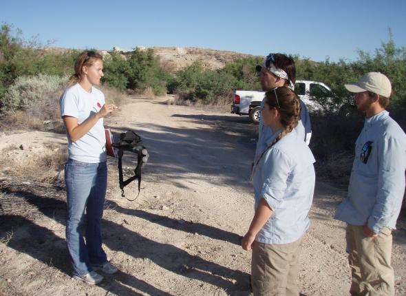 The crew had the opportunity to take part in some bird surveys with our BLM contact, Amelia Savage.
