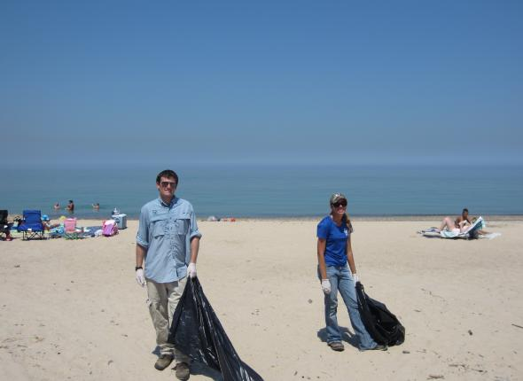 Beach clean-up action