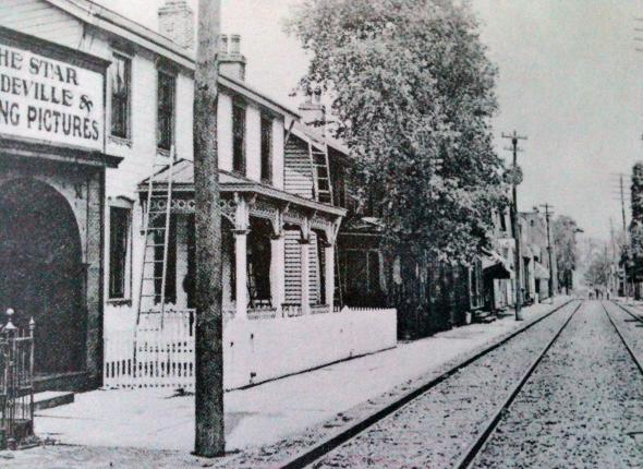 Historic photo of First Street used in Historic Resource Survey Form