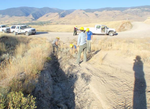 Making progress on a road closure