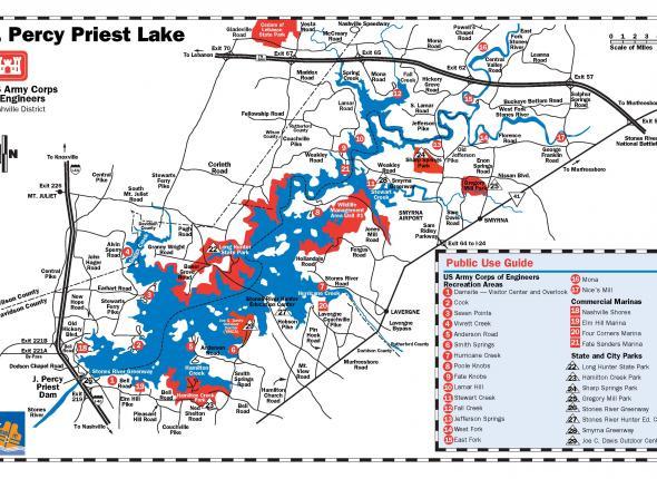J. Percy Priest Lake rec areas