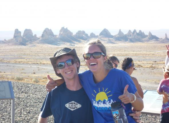 Louis and Abby at the Pinnacles