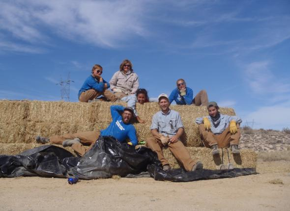 We are the straw bale crew.