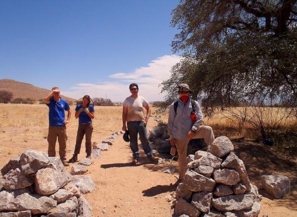 Pulling invasives, making waterbars, and building a walking trail at Coronado