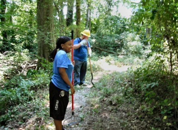 Donivan Slough trail restoration at the Natchez Trace Parkway!