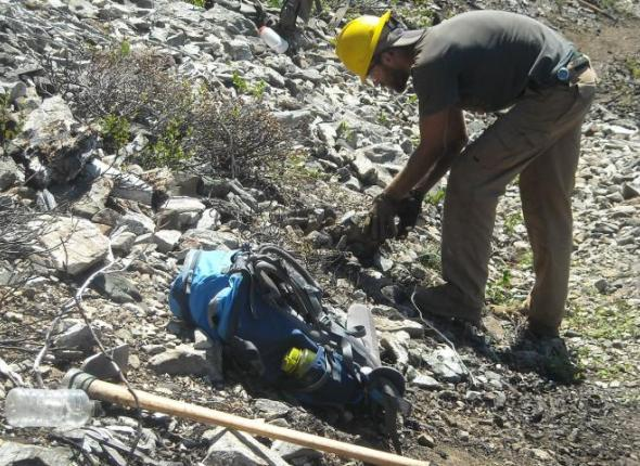 Clearing scree