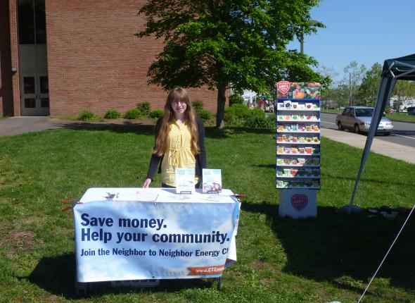 Beautiful day for tabling at a garden sale!