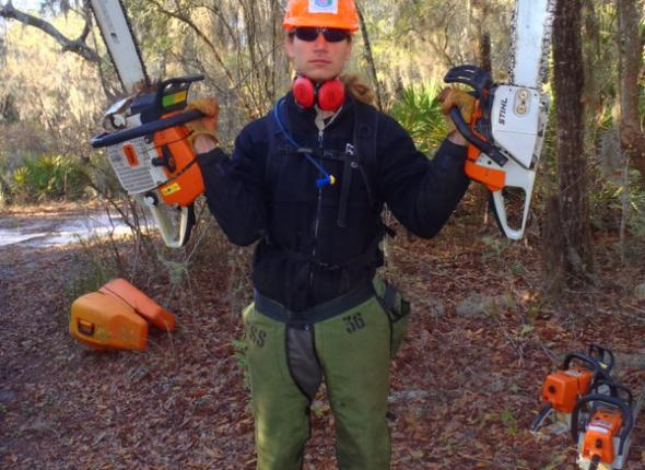 Sean does what he wants, and sometimes he wants to rock out with two chainsaws