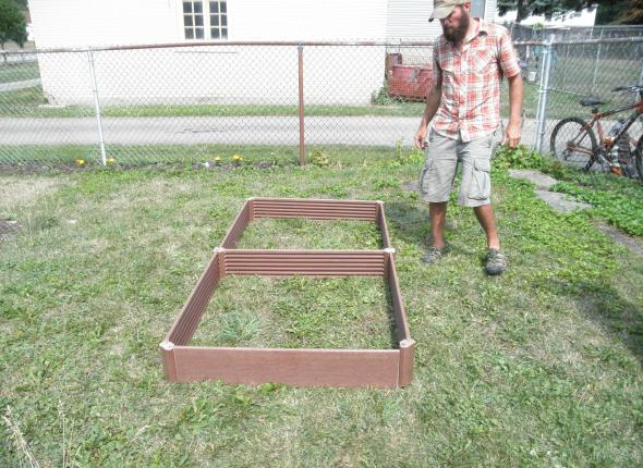 the frame for the raised bed