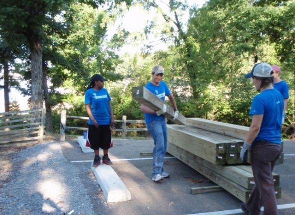 Hickory Ridge playground restoration!
