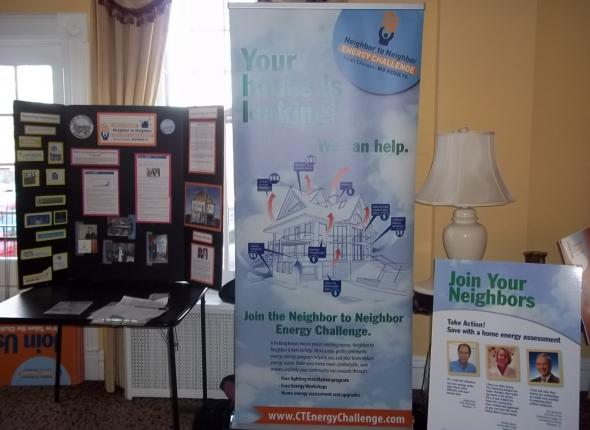 Our display in the Westport Woman's Club