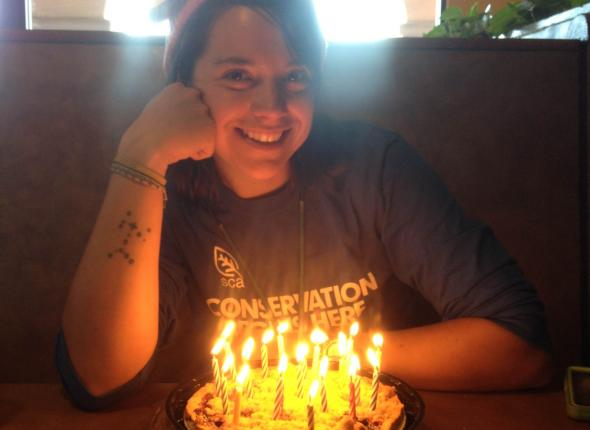 Birthday girl at her lunch (Compliments of Steve Harris!)