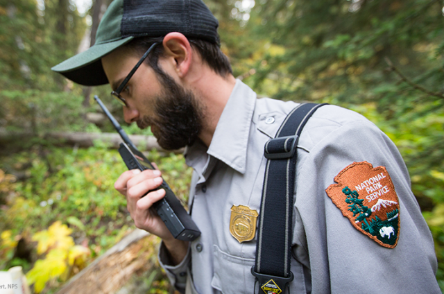 Ranger Alex Poole at Yellowstone National Park