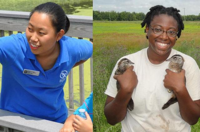 Mary Nghe and Stacey Kinney -- two CDIP Interns with the Student Conservation Association