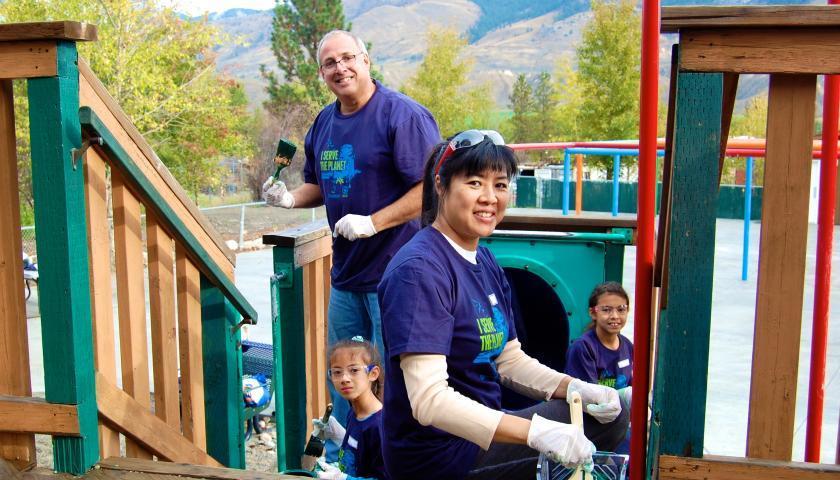 Domtar volunteers restore playgrounds at the BC Wildlife Park in Kamloops