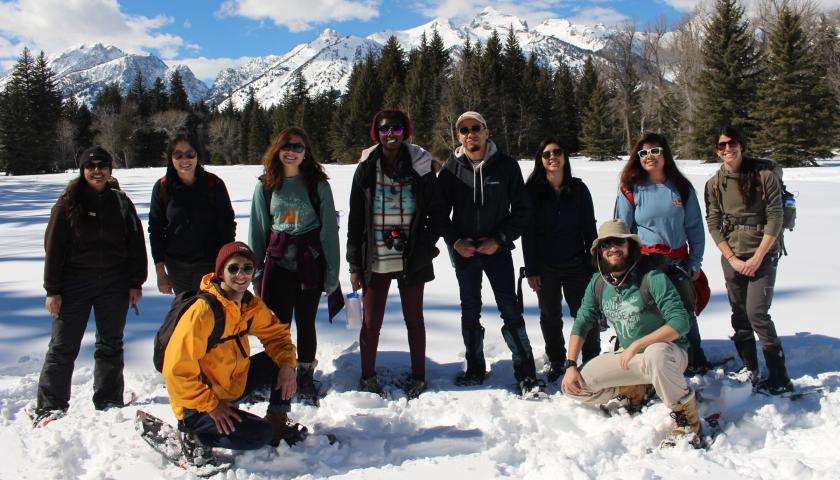 SCA interns snowshoe at Grand Teton National Park