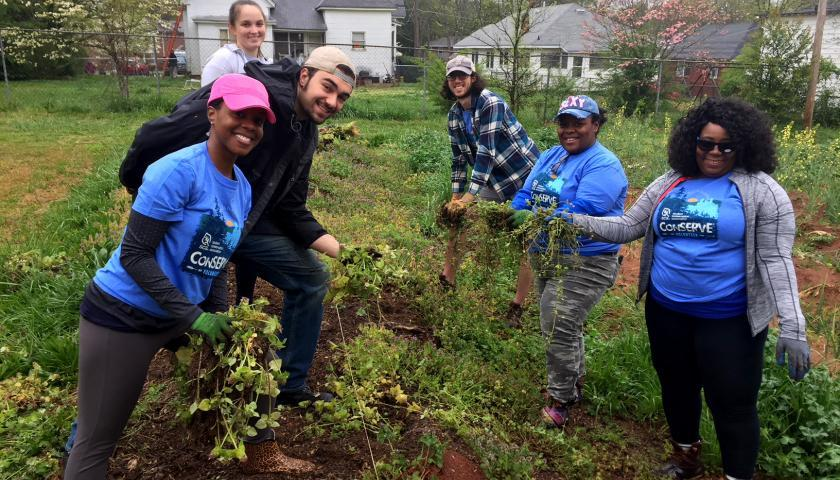 SCA Earth Month Volunteers at Metro Atlanta Urban Farm