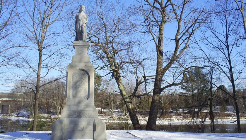 Hannah Dustin Memorial Site in Boscawen NH, where SCA members are cleaning brush