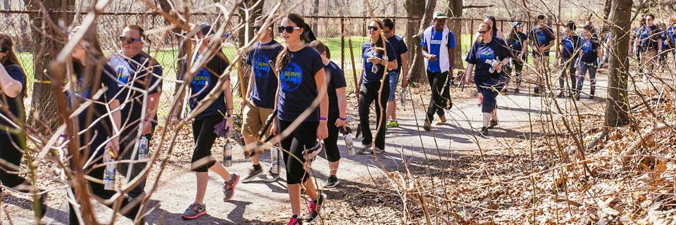Volunteers at SCA and American Express' 2015 Earth Day Service Event, Van Cortlandt Park, NY